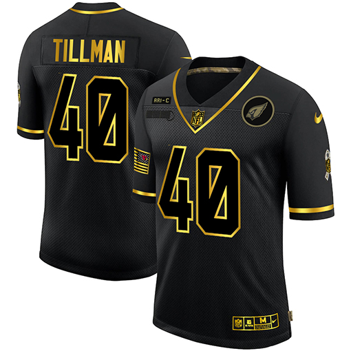 Cheap Arizona Cardinals 40 Pat Tillman Men Nike 2020 Salute To Service Golden Limited NFL black Jerseys