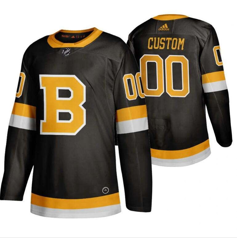 Wholesale Boston Bruins Custom Black 2019-20 Third Stitched NHL Jersey
