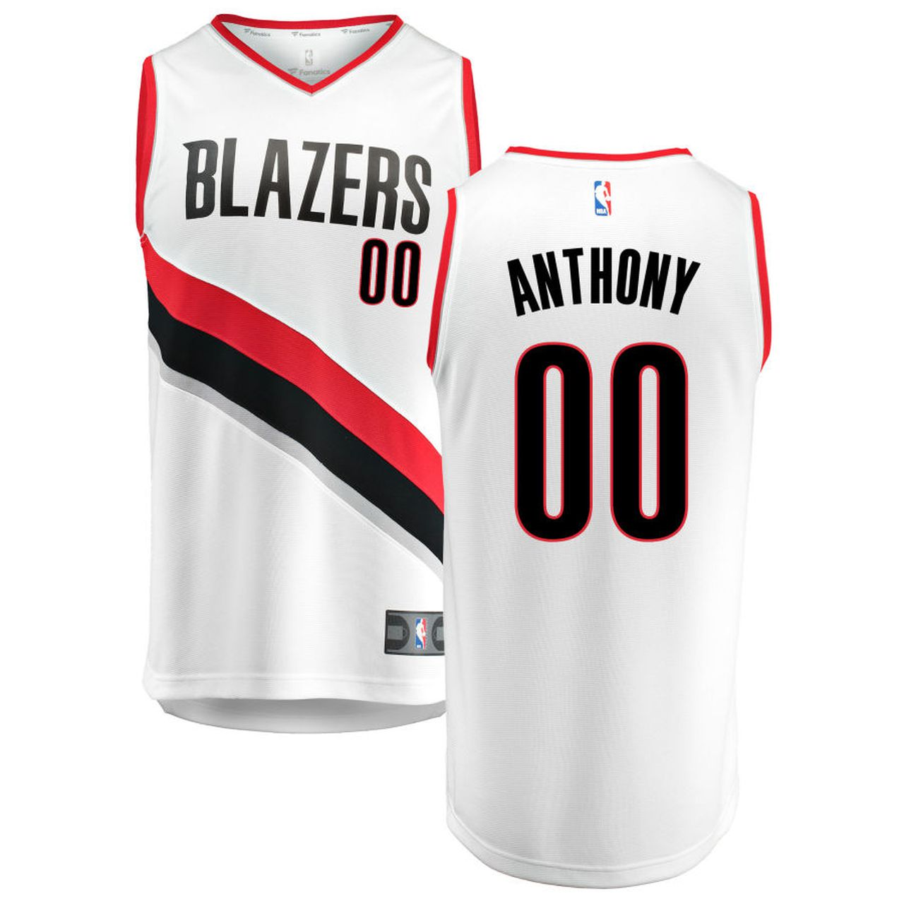 Wholesale Custom Men Portland Trail Blazers Carmelo Anthony 00 White NBA Jersey