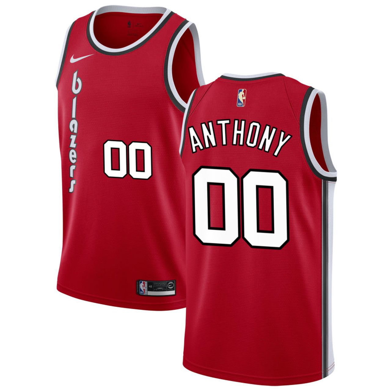 Wholesale Custom Men Portland Trail Blazers Carmelo Anthony 00 red NBA Jersey