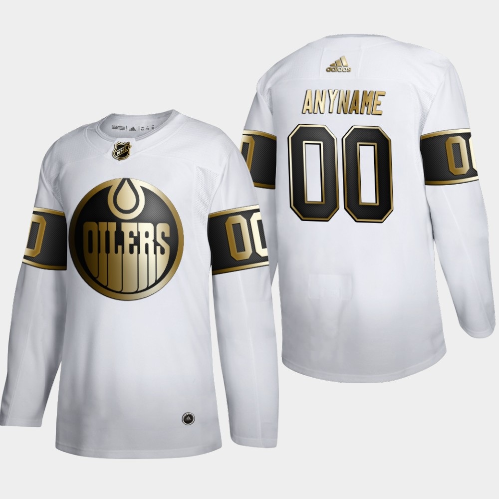 Cheap Edmonton Oilers Custom Men Adidas White Golden Edition Limited Stitched NHL Jersey