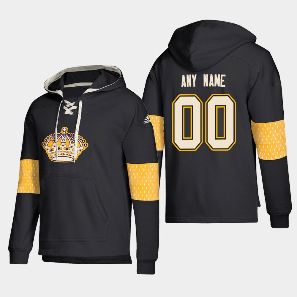 Wholesale Men NHL Los Angeles Kings Custom Pullover Hoodie Black jerseys