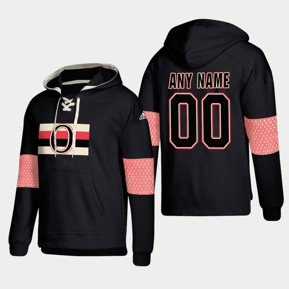 Wholesale Men NHL Ottawa Senators Custom Pullover Hoodie Black jerseys