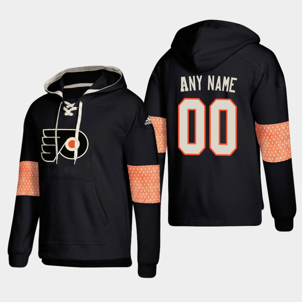 Cheap Men NHL Philadelphia Flyers Custom Pullover Hoodie Black jerseys