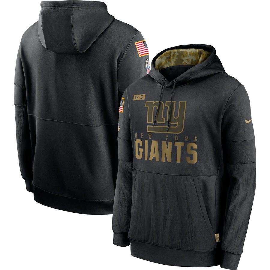 Cheap Men New York Giants Black Salute To Service Hoodie Nike NFL Jerseys
