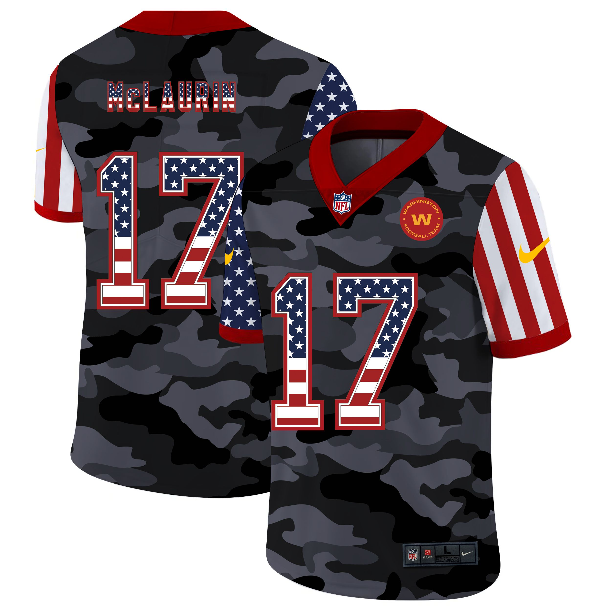 Wholesale Men Washington Redskins 17 Mclaurin 2020 Nike USA Camo Salute to Service Limited NFL Jerseys