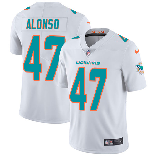 Wholesale Nike Miami Dolphins 47 Kiko Alonso White Youth Stitched NFL Vapor Untouchable Limited Jersey
