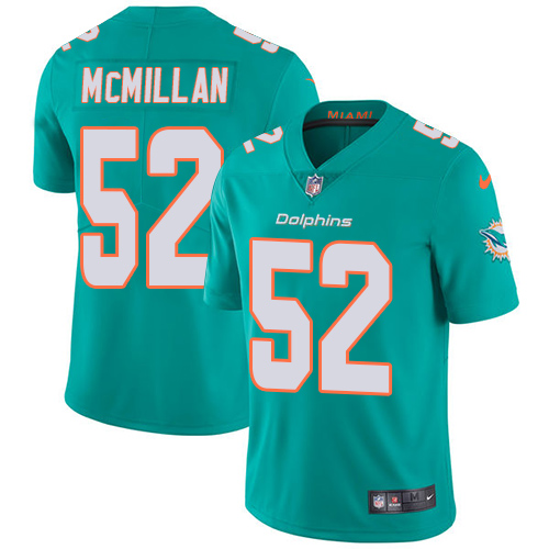Wholesale Nike Miami Dolphins 52 Raekwon McMillan Aqua Green Team Color Youth Stitched NFL Vapor Untouchable Limited Jersey