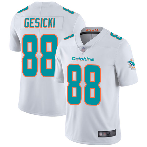 Wholesale Nike Miami Dolphins 88 Mike Gesicki White Youth Stitched NFL Vapor Untouchable Limited Jersey