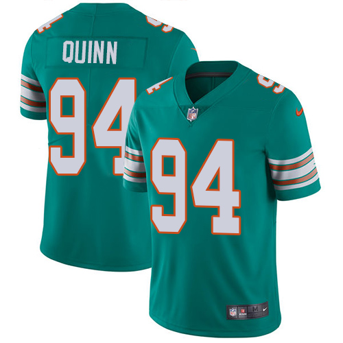 Wholesale Nike Miami Dolphins 94 Robert Quinn Aqua Green Alternate Youth Stitched NFL Vapor Untouchable Limited Jersey