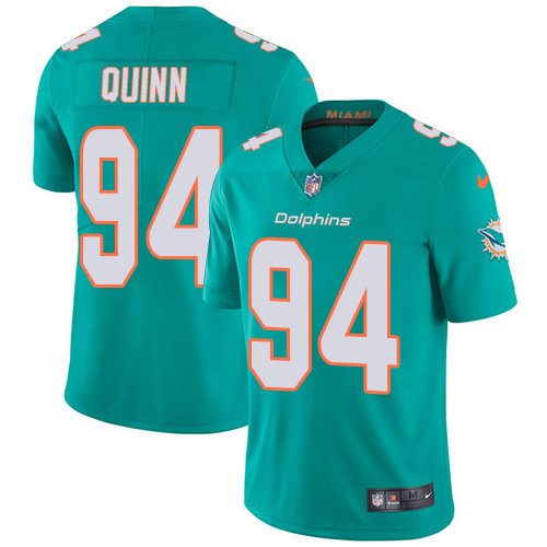 Wholesale Nike Miami Dolphins 94 Robert Quinn Aqua Green Team Color Youth Stitched NFL Vapor Untouchable Limited Jersey