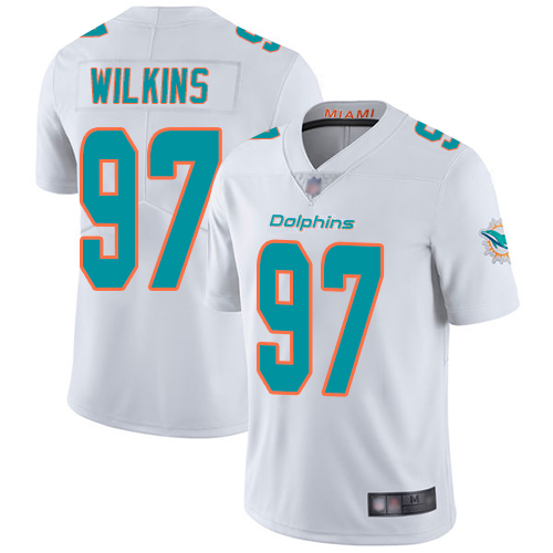 Wholesale Nike Miami Dolphins 97 Christian Wilkins White Youth Stitched NFL Vapor Untouchable Limited Jersey