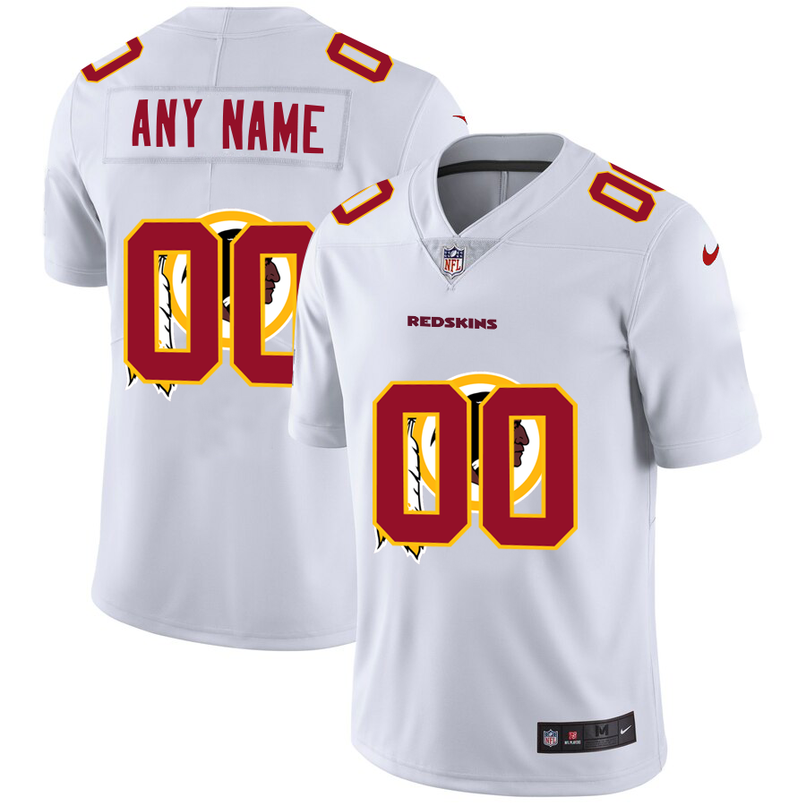 Wholesale Wholesale Washington Redskins Custom White Men Nike Team Logo Dual Overlap Limited NFL Jersey