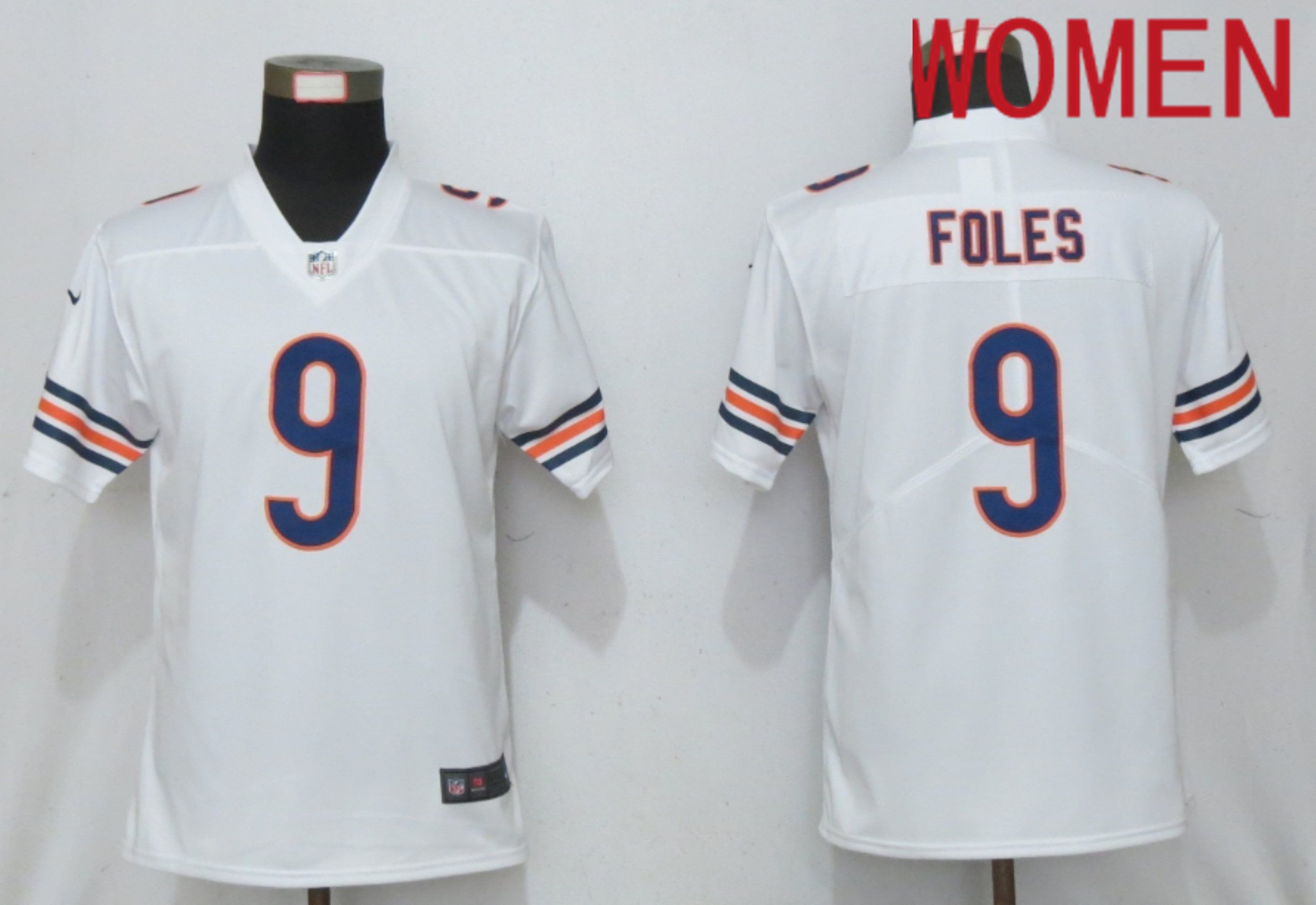 Cheap Women Chicago Bears 9 Foles Nike White Alternate Vapor Elite Playe NFL Jersey