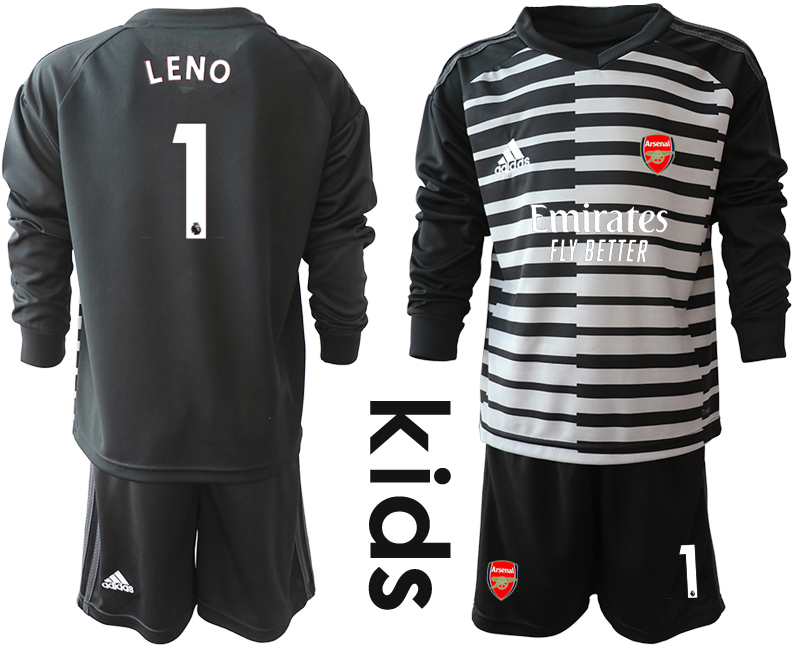 Cheap Youth 2020-2021 club Arsenal black long sleeved Goalkeeper 1 Soccer Jerseys1