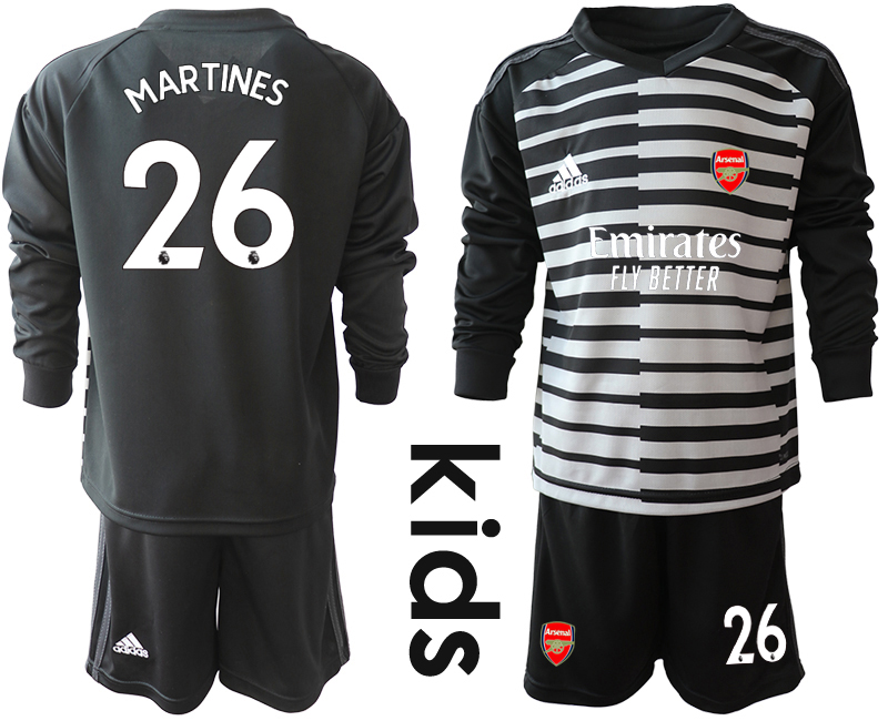 Cheap Youth 2020-2021 club Arsenal black long sleeved Goalkeeper 26 Soccer Jerseys1