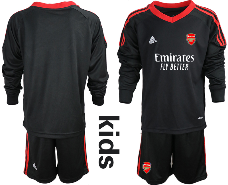Cheap Youth 2020-2021 club Arsenal black long sleeved Goalkeeper blank Soccer Jerseys