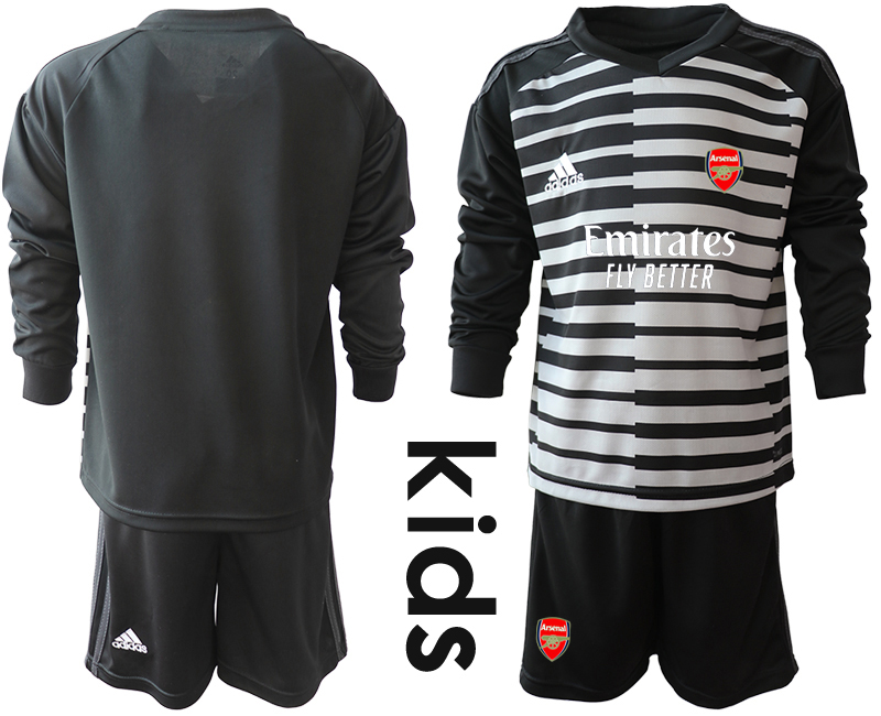 Cheap Youth 2020-2021 club Arsenal black long sleeved Goalkeeper blank Soccer Jerseys1