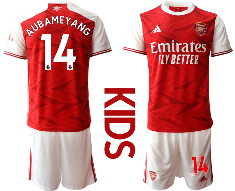 Wholesale Youth 2020-2021 club Arsenal home 14 red Soccer Jerseys