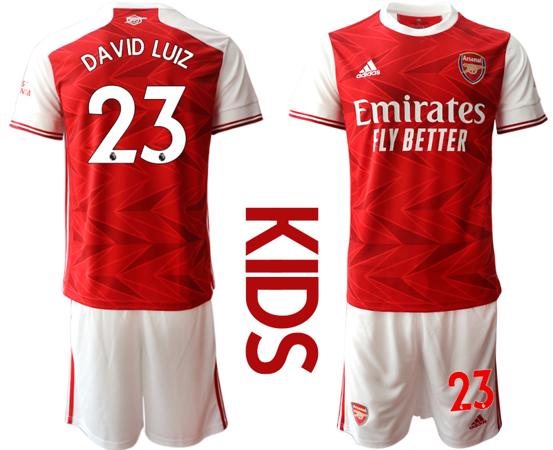 Wholesale Youth 2020-2021 club Arsenal home 23 red Soccer Jerseys