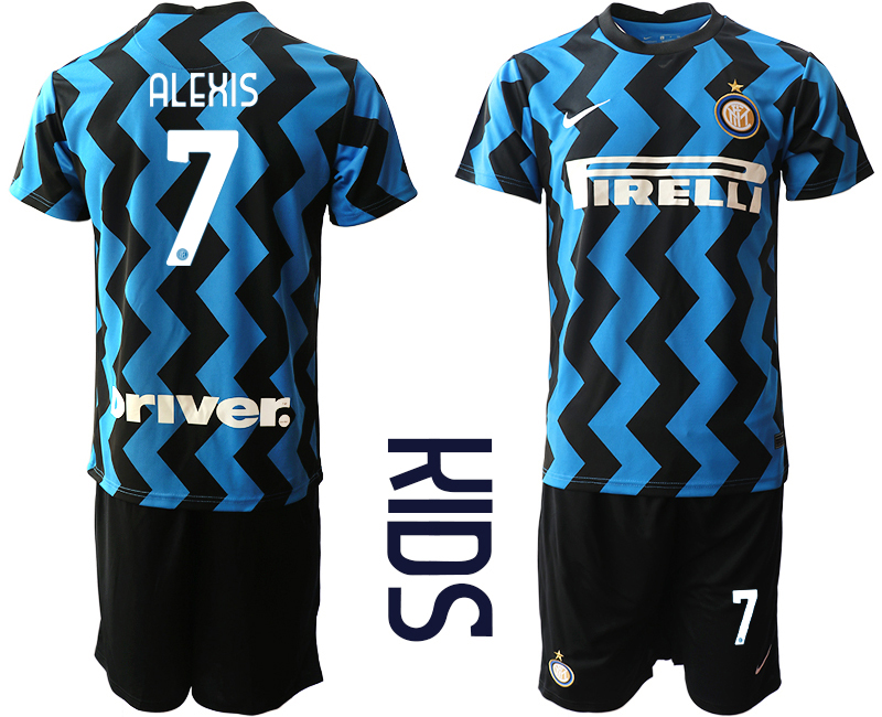 Cheap Youth 2020-2021 club Inter Milan home 7 blue Soccer Jerseys