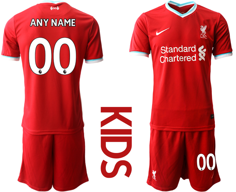 Cheap Youth 2020-2021 club Liverpool home customized red Soccer Jerseys