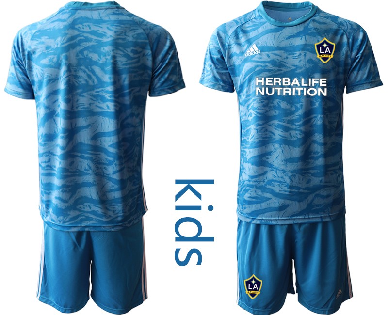 Cheap Youth 2020-2021 club Los Angeles Galaxy blue goalkeeper blank Soccer Jerseys