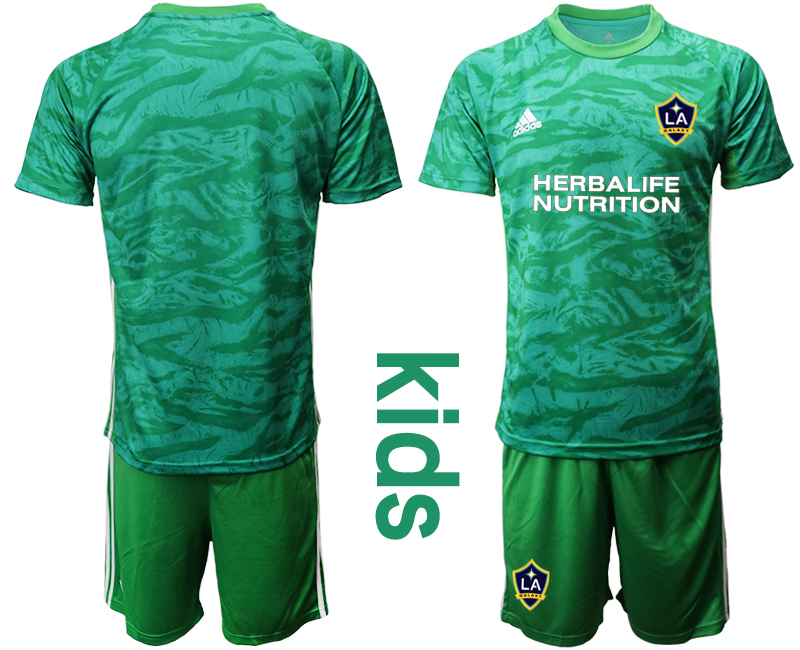Cheap Youth 2020-2021 club Los Angeles Galaxy green goalkeeper blank Soccer Jerseys