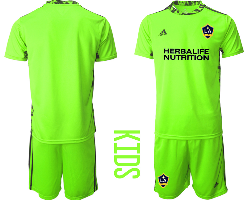 Cheap Youth 2020-2021 club Los Angeles Galaxy green goalkeeper blank Soccer Jerseys1