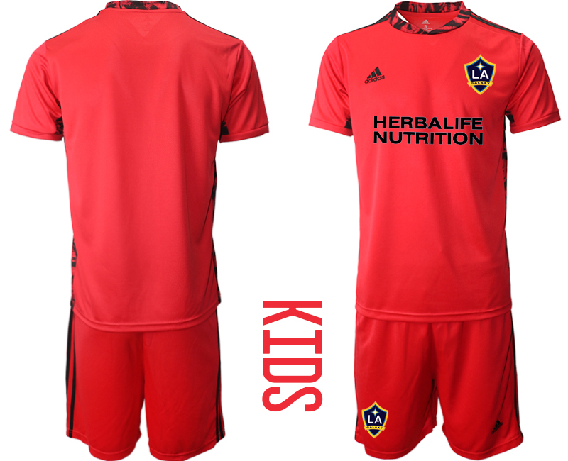 Cheap Youth 2020-2021 club Los Angeles Galaxy red goalkeeper blank Soccer Jerseys