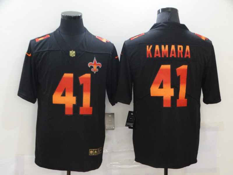 Wholesale 2020 Men Nike NFL New Orleans Saints 41 Alvin Kamara black fashion limited jerseys