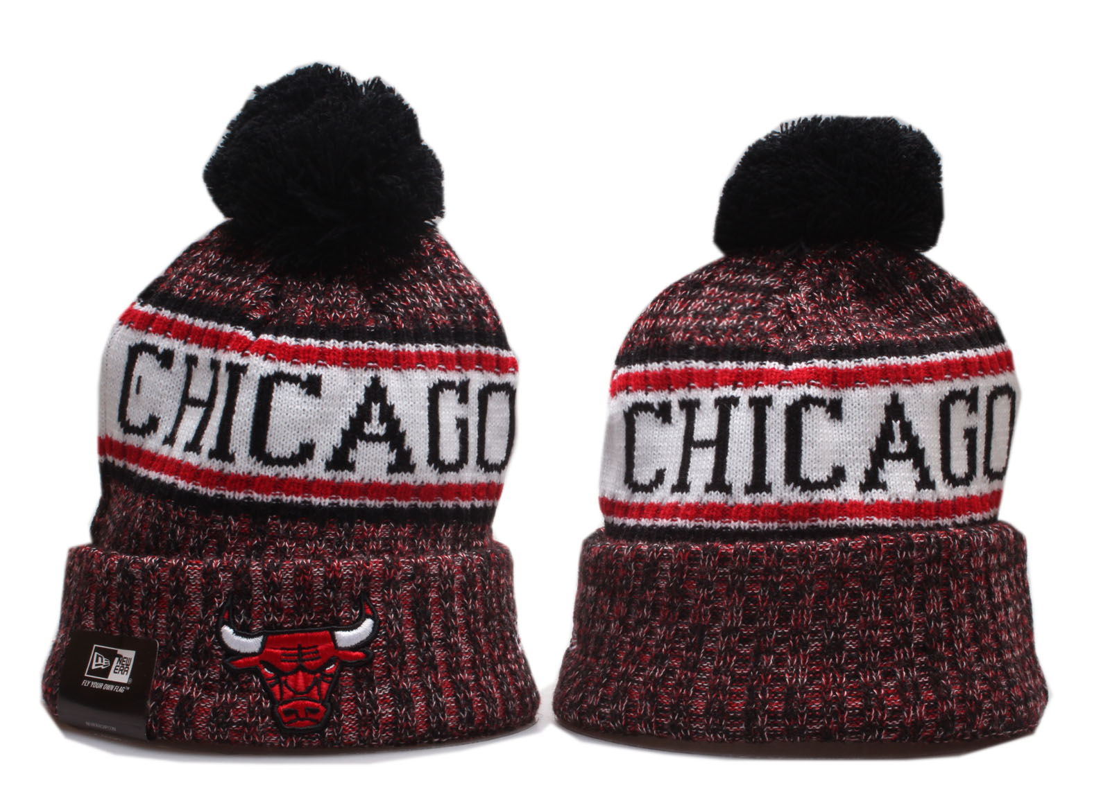 Cheap 2020 NBA Chicago Bulls 2 Beanies