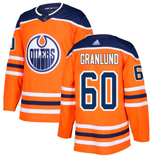 Wholesale Adidas Edmonton Oilers 60 Markus Granlund Orange Home Authentic Stitched Youth NHL Jersey