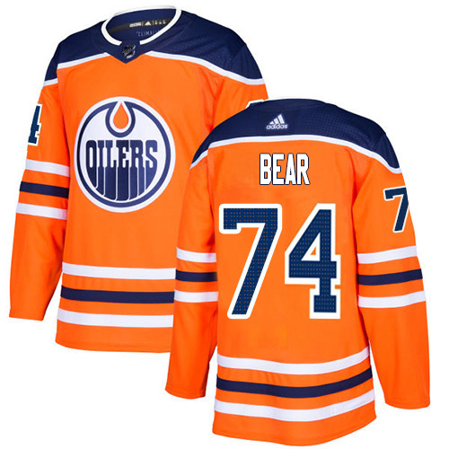 Wholesale Adidas Edmonton Oilers 74 Ethan Bear Orange Home Authentic Stitched Youth NHL Jersey
