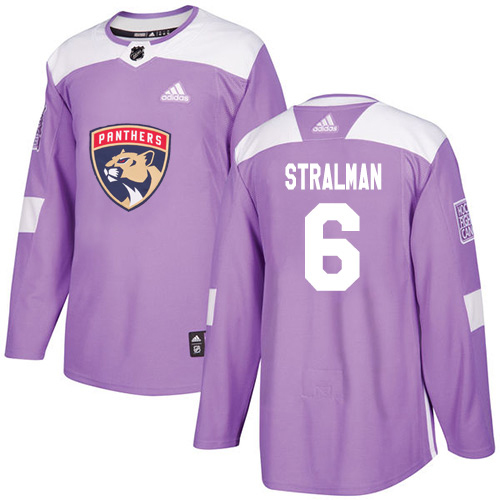 Cheap Adidas Florida Panthers 6 Anton Stralman Purple Authentic Fights Cancer Stitched Youth NHL Jersey