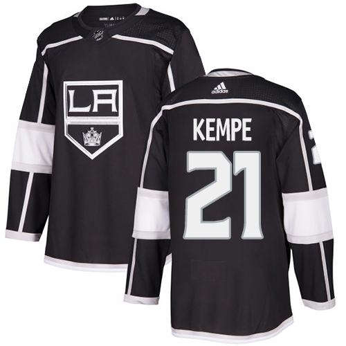 Wholesale Adidas Los Angeles Kings 21 Mario Kempe Black Home Authentic Stitched Youth NHL Jersey