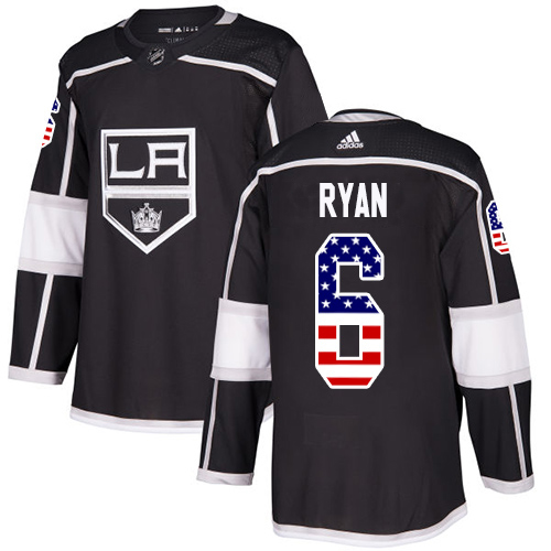 Wholesale Adidas Los Angeles Kings 6 Joakim Ryan Black Home Authentic USA Flag Stitched Youth NHL Jersey