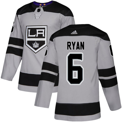 Wholesale Adidas Los Angeles Kings 6 Joakim Ryan Gray Alternate Authentic Stitched Youth NHL Jersey