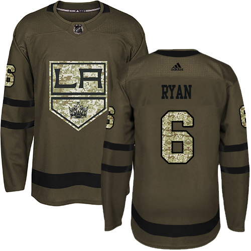 Wholesale Adidas Los Angeles Kings 6 Joakim Ryan Green Salute to Service Stitched Youth NHL Jersey