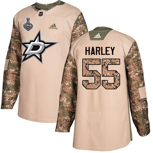 Cheap Adidas Men Dallas Stars 55 Thomas Harley Camo Authentic 2017 Veterans Day 2020 Stanley Cup Final Stitched NHL Jersey