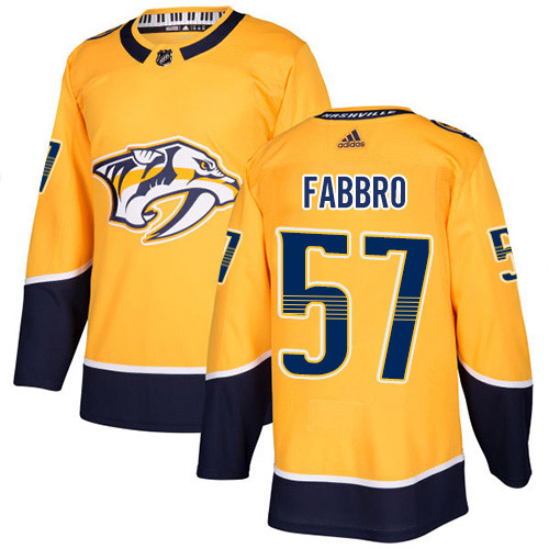 Cheap Adidas Nashville Predators 57 Dante Fabbro Yellow Home Authentic Stitched Youth NHL Jersey