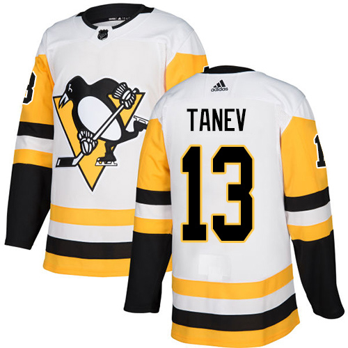 Wholesale Adidas Pittsburgh Penguins 13 Brandon Tanev White Road Authentic Stitched Youth NHL Jersey