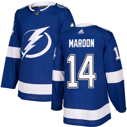 Cheap Adidas Tampa Bay Lightning 14 Pat Maroon Blue Home Authentic Youth Stitched NHL Jersey