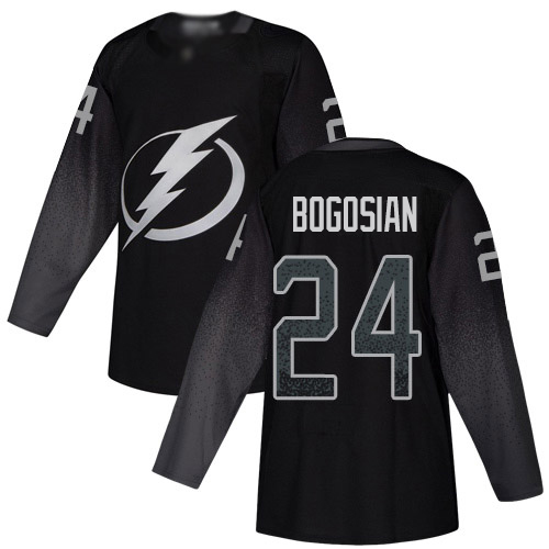Cheap Adidas Tampa Bay Lightning 24 Zach Bogosian Black Alternate Authentic Youth Stitched NHL Jersey