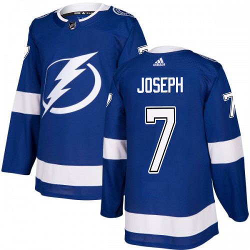 Cheap Adidas Tampa Bay Lightning 7 Mathieu Joseph Blue Home Authentic Youth Stitched NHL Jersey
