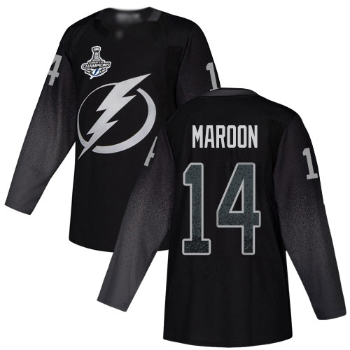 Cheap Adidas Tampa Bay Lightning Men 14 Pat Maroon Black Alternate Authentic 2020 Stanley Cup Champions Stitched NHL Jersey