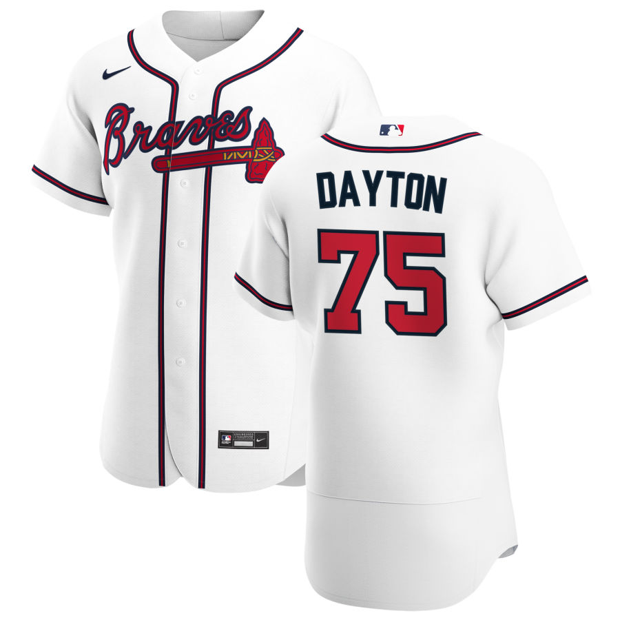 Cheap Atlanta Braves 75 Grant Dayton Men Nike White Home 2020 Authentic Player MLB Jersey