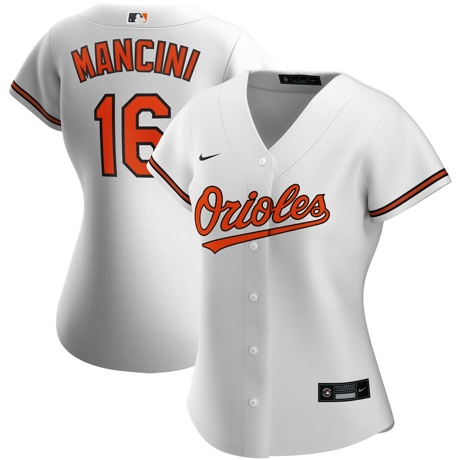 Wholesale Baltimore Orioles 16 Trey Mancini Nike Women Home 2020 MLB Player Jersey White