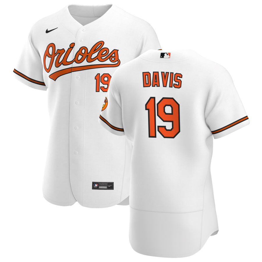 Wholesale Baltimore Orioles 19 Chris Davis Men Nike White Home 2020 Authentic Player MLB Jersey