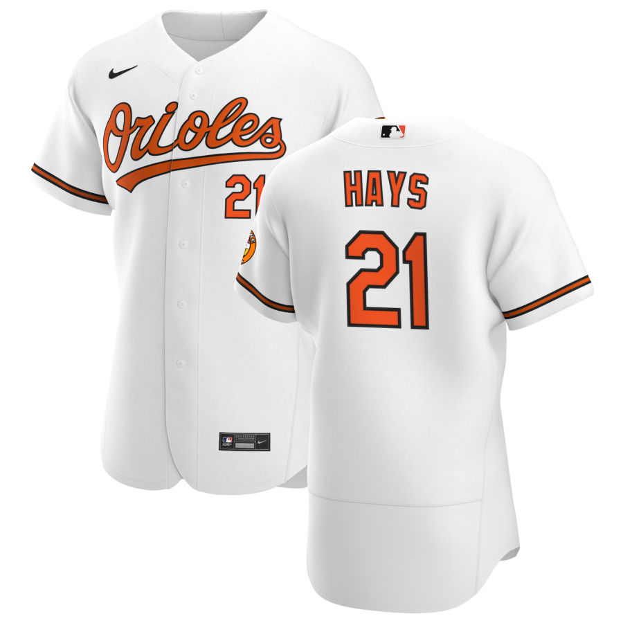Wholesale Baltimore Orioles 21 Austin Hays Men Nike White Home 2020 Authentic Player MLB Jersey